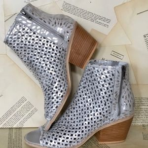 Anthropologie Met Laser Cut OpenToe Sandal Boot 41